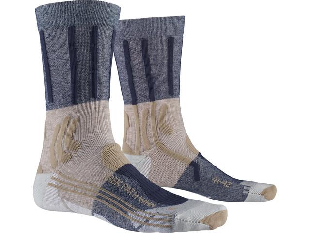 X-Socks Trek Path Chaussettes Femme, midnight blue/walnut brown